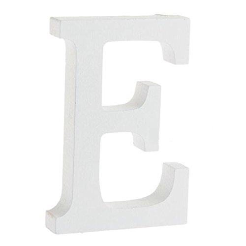 joyliveCY - 1 letra de madera artesanal para decoración del hogar, fiestas de cumpleaños, bodas, letra E