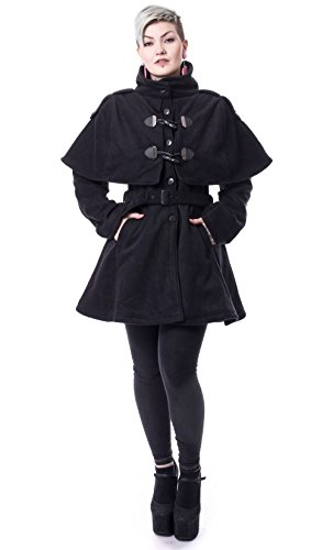 Poizen Industries -  Cappotto  - Collo mao  - Maniche lunghe  - Donna nero S
