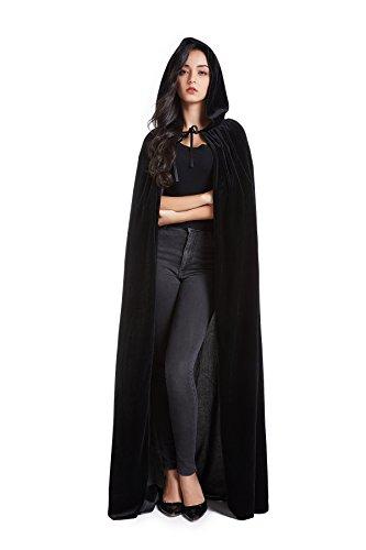el aus Samt Unisex Halloween Kostüm Cape für Männer und Frauen ()