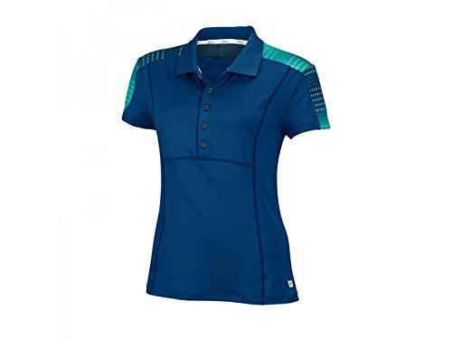 Wilson, Polo da tennis Donna, Blu (Pacific Teal), XS