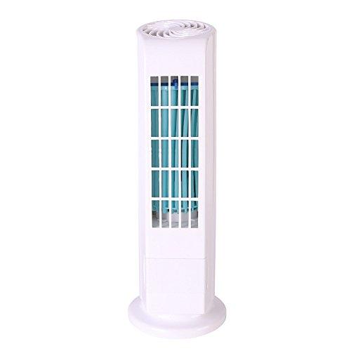 SHE.White Blattloser Tischventilator Leise | kompakter Turmventilator mit Oszilation 20 W | 35 cm Neu Mini tragbar USB Kühlung Luft Conditioner Luftreiniger Turm Klimageräte (Mitsubishi Split Luft)