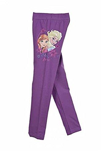 Disney frozen la regina dei ghiacci leggings ragazza viola 4 anni