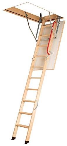 Gedämmte Bodentreppe, Holztreppe, Speichertreppe, Dachbodentreppe - Viele Größen und Modellen (LWK Komfort, 70 x 120 x 280 cm)