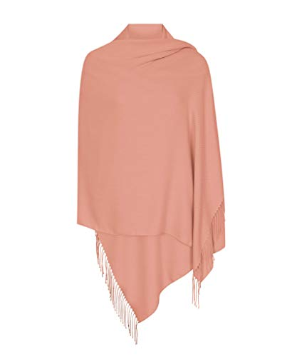 Dunkle Rosa Hergestellt in Italien (37 Schöne Farben Erhältlich) Pashmina Schal Stola Umschlagtücher Tuch für Damen - Super Weich - Exklusiv von Pashminas & Wraps aus  London