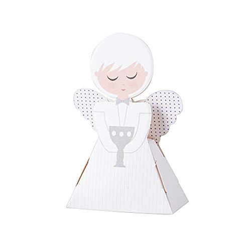 Jnch 50pz scatoline bomboniere comunione portaconfetti a forma di angelo scatole carta decorazione segnaposto battesimo nascita