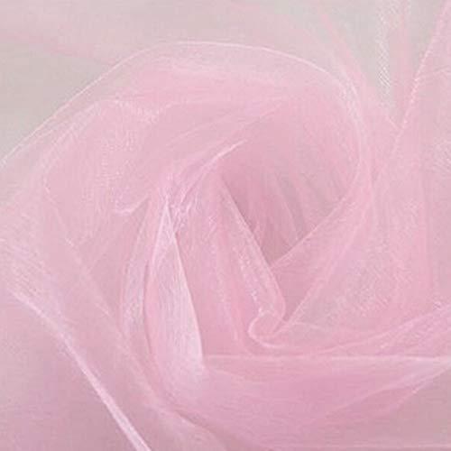 Hirolan 500CM*48CM Organza Sheer Organza Fabric for Wedding Backdrop Decoration Vorhang Farbverlauf Gardinen Chic Kinderzimmer Vorhänge -