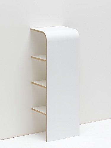Tojo schuh - Schuhregal mit 3 Fächern - Offenes Designer Regal - Weiß - Schuhkommode für 3 Paar...
