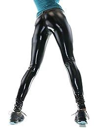 ff18c94f2ef52f SkinnyHeel Lack Leggings in schwarz Sport Fitness Legging Hose mit  Reißverschluss hergstellt in Deutschland NEU