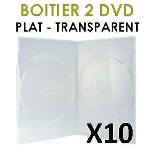 Boitier plat et transparent pour 2 DVD - Achat par X 10