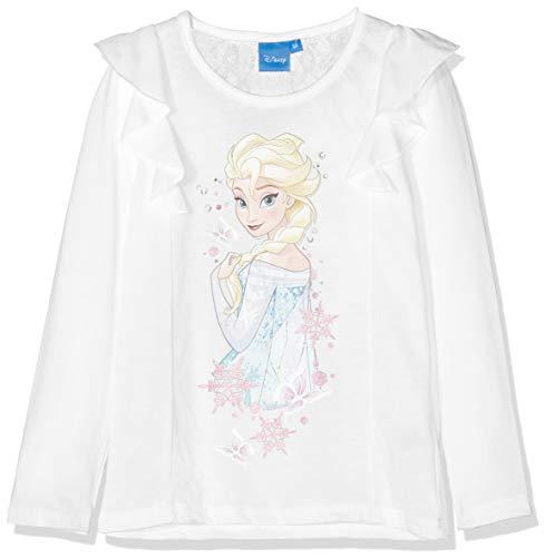 Disney frozen frozen diamond stones t-shirt bambina, white (offwhite 11-0602tc) 4 anni