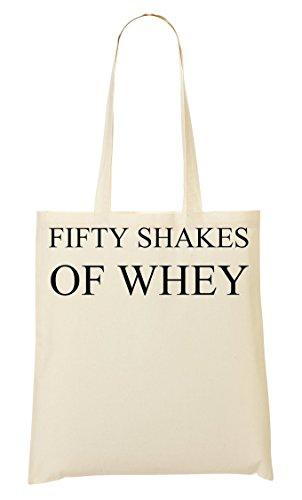 ToteWorld Fifty Shakes Of Whey Tragetasche Einkaufstasche
