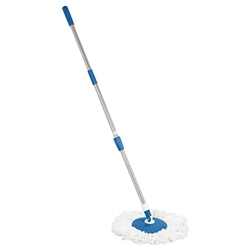 Primeway Spin Mop Handle Set with Disc and Mop Head, Dark Blue  available at amazon for Rs.399