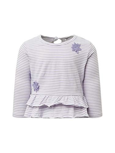TOM TAILOR für Mädchen T-Shirts/Tops Gestreiftes Langarmshirt y/d Stripe|Multicolored, 68 - Baumwolle Bestickt Verziert Top