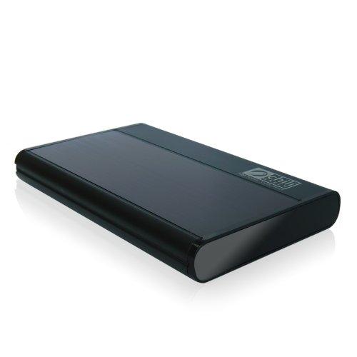 chiliGREEN externe Festplatte 2,5'' 500 GB USB 2.0 EF25.911 Pure black (ALUMINIUM-Rahmen)