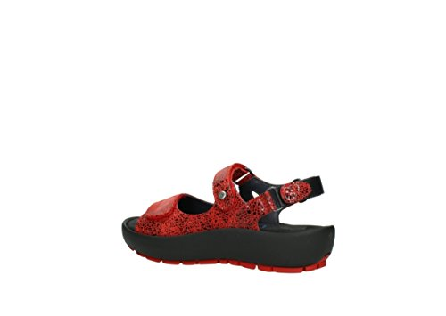 Wolky Womens 3325 Rio Leather Sandals Rouge