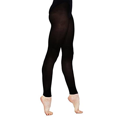 Mytoptrendz® Adult Women's Lady Footless Dance Tights Soft Opaque with Spandex - Black Small