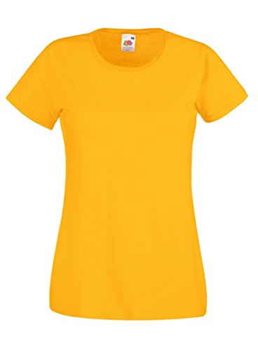 Fruit of the Loom - T-shirt - Femme Tournesol