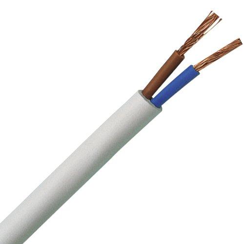 Kopp 151525003 Schlauchleitung H03 VV-F, 2 x 0.75 mm², 25 m, weiß (0.75)