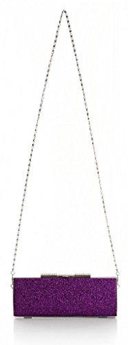 Il piccolo Hotel donna alla moda lucida, stanotte partito 22 x 9 x 5 cm Borsa econdo (L x A x P) Argento (argento)