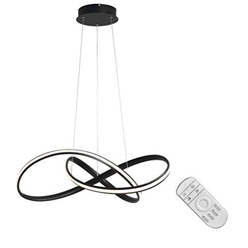 Jsyuany LED Lámparas Araña con Control Remoto, Lámpara Colgante Para Sala de Estar Lámpara Regulable 3000K-6000K Araña Luz de Acrílico Lámpara de Sala de Altura Ajustable Lámpara de Techo
