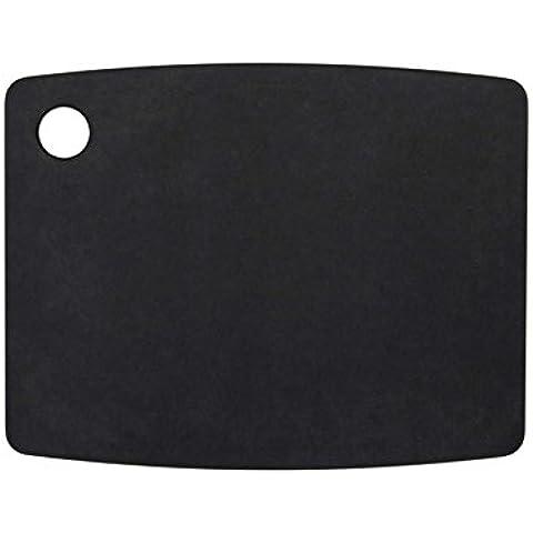 TopGourmet Productos de cocina:  Tabla de cortar de fibra de madera, color negro,  30 x 22.5 cm / 12 x 9 pulgadas