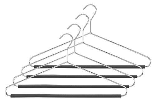 Whitmor Hanger with Pant Bar Set of 4 Chrome -
