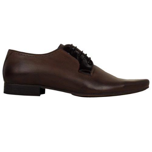Herren H by Hudson Leder Smart Larkin Schuhe Förmliche Schuhe Braun