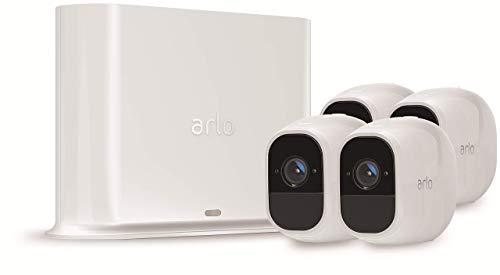 Foto Arlo Pro2 VMS4430P-100EUS Kit Sistema di Videosorveglianza Wi-Fi, 4...