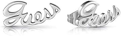 Guess Pendientes de botón Mujer chapado en plata - UBE28064