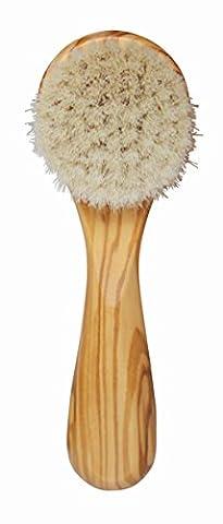 Lilywoods Brosse pour le Visage Exfoliante de qualité Supérieure avec des poils de chèvres extra