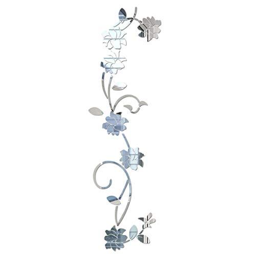 erthome 3D DIY Blume Form Acryl Wandaufkleber Moderne Aufkleber Dekoration