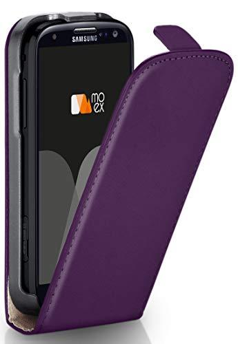 Magnetverschluss [Rundum-Schutz] passend für Samsung Galaxy S3 / S3 Neo | 360° Handycover aus feinem Premium Kunst-Leder, Lila ()