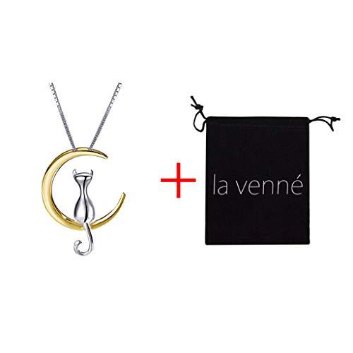 ICNCVKX Pandora-Halskette Mode einfache Temperament niedliche Mond Halskette Katze Halskette Schlüsselbein Kette Geschenk der Mutter Geschenk zum Valentinstag