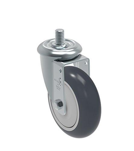Non-Marking Thermoplastic Rubber Precision Ball Bearing Wheel Bolt Holes 3 x 1-3//4 Bolt Holes 3 x 1-3//4 Schioppa GLA 512 TBE L12 Series 5 x 1-1//4 Diameter Swivel Caster Plate 3-3//4 x 2-1//2 275 lb Plate 3-3//4 x 2-1//2