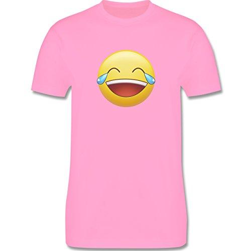 Statement Shirts - Tränen Lachen - Emoji - Herren Premium T-Shirt Rosa