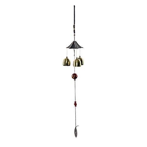 Hevoiok Windspiele Klangspiele Bronze Farbe Glocken Windspiele Deko Bells mit Großer Klang (Bronze Color)