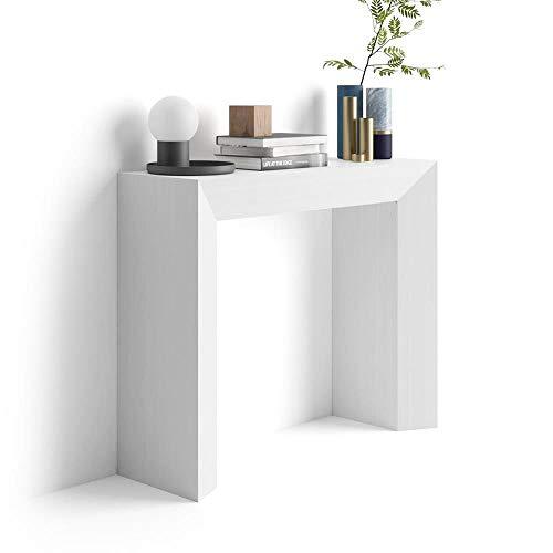 Mobili fiver giuditta consolle ingresso, frassino bianco, 90x30x75 cm