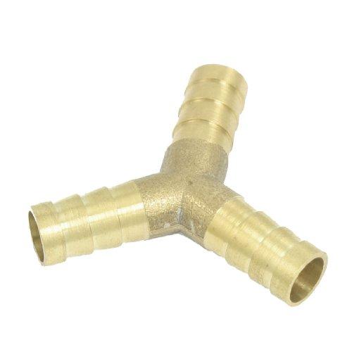 sourcingmap® Amico 3-Wege-Verbinder, Y-förmig, für Luftleitungen, aus Messing, 10mm, goldfarben de -