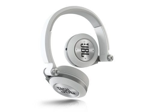 E40 BT Stereo Bluetooth, Imbottite, Morbide, Ricaricabili, Wireless, Compatibili con Dispositivi Apple iOS e Android, Bianco