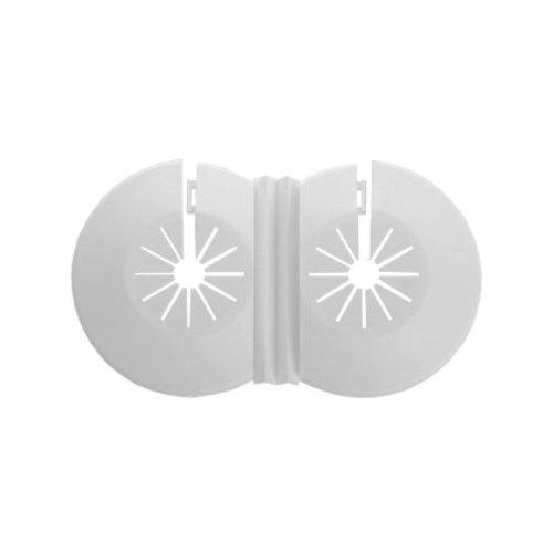 Twin Doppelkreuz 8-22mm weiße Kunststoff-Wasserleitung Heizkörper abdecken Krägen Rosen