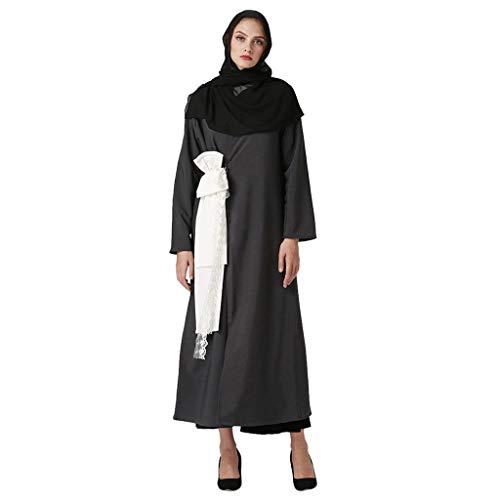 31baef26acb JERFER Vestidos de Mujer 2020 Abaya Dubai Ramadan Caftan Moroccan Vestido  Musulmán Turco