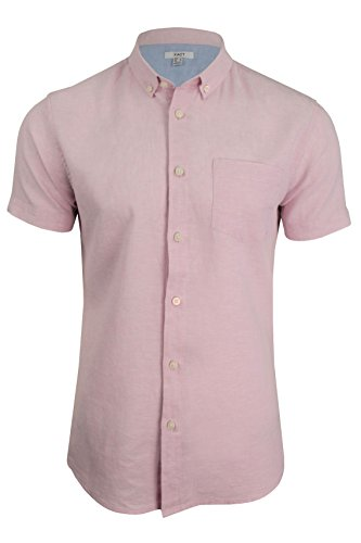 Xact Mens Short Sleeved Linen Mix Shirt by