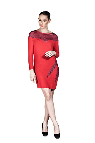 Hüseyin Kücük -  Vestito  - stile impero - Donna Rot