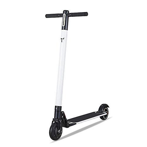 Benchwheel Elektrische Scooter Erwachsener, 6 Zoll Elektrische City Scooter Faltbarer mit LED und An (Weiß)