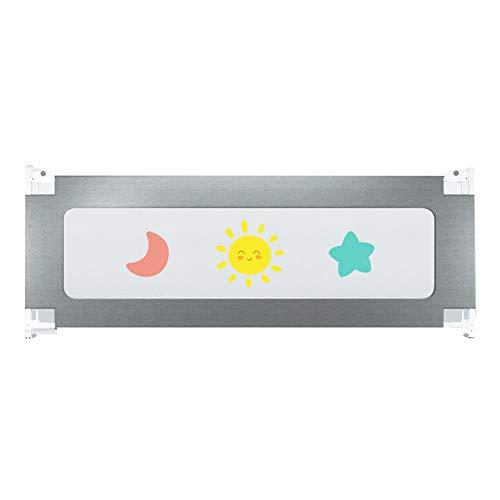 Bettgitter JY 200cm Vertical Lift Baby Bruchsichere Leitplanke, Kinderbettgitter - 67-90cm Verstellbar (Color : Gray) -