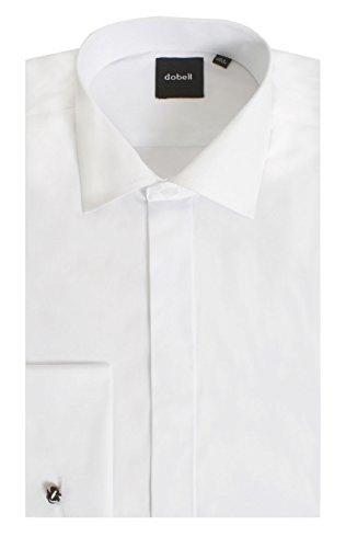 Dobell Smokinghemd, Weiß, Schlichte Hemdbrust, Dobell-37