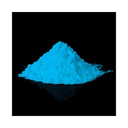 farbpulver lumentics Phospohereszierendes Premium Leuchtpulver blau - Im Dunkeln nachleuchtendes Uv Farbpulver. 40g selbstleuchtende Pigmente.