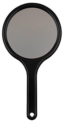 Handspiegel mit 2 Spiegelflächen, 2-fach Vergrößerung Kosmetikspiegel mit 2 Seiten