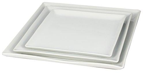 Newsbenessere.com 31XHDtSyKyL Borella Casalinghi 23969 Piatto Quadro, Ceramica, Bianco