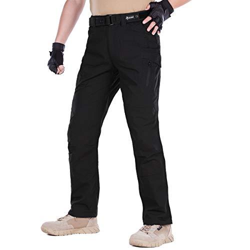 Camo Army Cargo Bdu Shorts (FREE SOLDIER Herren Cargohose Camo mit Reißverschlusstasche, wasserabweisend, BDU Gear Army Tactical Pants, Herren, schwarz, 34W/30.5L)